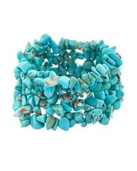 John Lewis - Blue Stretch Chip Cuff Bracelet - Lyst
