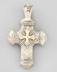 Konstantino | Metallic Myrmidones Mens Sterling Bronze Cross Pendant for Men | Lyst