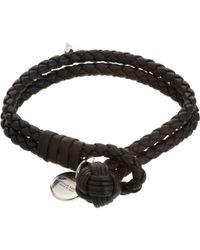 Bottega Veneta - Black Intrecciato Double Bracelet - Lyst