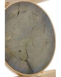 Isharya - Gray 18-Karat Gold-Plated Labradorite Cuff - Lyst