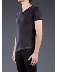 Private Stock - Blue Raw Edge Tshirt for Men - Lyst