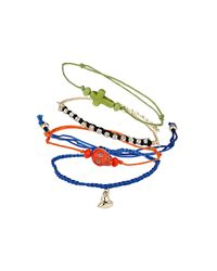 TOPSHOP - Multicolor Bright Mix Charm Bracelet Pack - Lyst