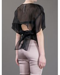 Anne Valerie Hash | Black Phi Cut Out Blouse | Lyst