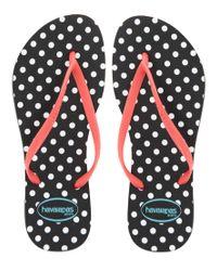 Havaianas | Black Slim Fresh Flip Flops | Lyst