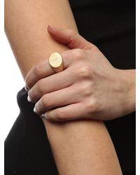 BaubleBar - Metallic Monogram Signet Ring  - Lyst