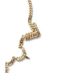 Fallon   Metallic Area Bib Necklace   Lyst