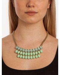 BaubleBar - Green Mint Threetier Bib - Lyst