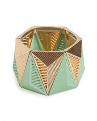 BaubleBar | Green Mint Isosceles Cuff | Lyst