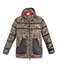 Moncler | Green Hartfield Camo Print Coat | Lyst