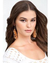 Bebe - Metallic Multi Piece Teardrop Hammered Earrings - Lyst