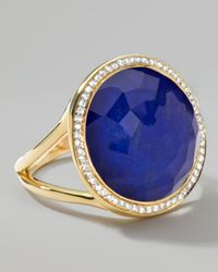 Ippolita   Blue Rock Candy Small Lollipop Diamond Lapis Ring   Lyst