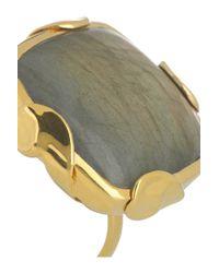 Monica Vinader - Green Gold-Plated Labradorite Ring - Lyst