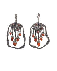 Arunashi | Red Fire Opal and Spinel Earrings | Lyst