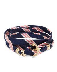 Brooks Brothers - Multicolor Kiel James Patrick Mini Bb1 Stripe Wrap Bracelet for Men - Lyst