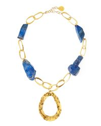 Devon Leigh - Blue Lapis Chain Necklace - Lyst