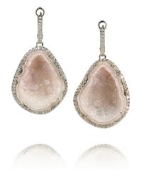 Kimberly Mcdonald - Pink 18karat White Gold Geode and Diamond Earrings - Lyst