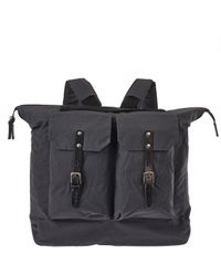 Ally Capellino - Blue Black Frank Waxed Canvas Backpack for Men - Lyst