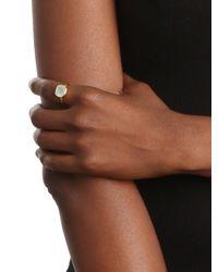 BaubleBar - Metallic Margaret Elizabeth Carnelian Cushion Cut Ring - Lyst