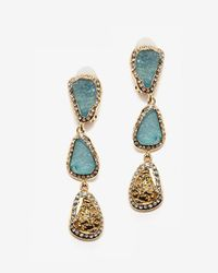 Kara Ross - Multicolor Resin Drop Clip Earring - Lyst