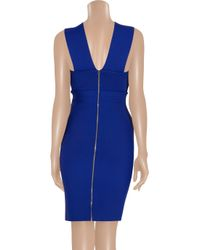 Roland Mouret - Blue Wilkes Pleated Ponte Dress - Lyst
