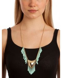 BaubleBar - Green Mint Tribal Shield Necklace - Lyst