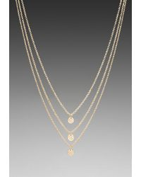 Gorjana | 3 Disc Shimmer Layer Necklace in Gold | Lyst