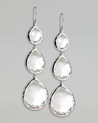 Ippolita | Metallic Triple Teardrop Earrings | Lyst