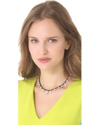 Tom Binns - White Veil Of Shadows Station Necklace - Lyst