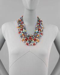 Jose & Maria Barrera | Multicolor Beaded Necklace | Lyst