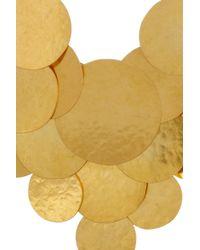 Herve Van Der Straeten - Metallic Pastilles Hammered Goldplated Earrings - Lyst