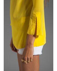 Trina Turk | Yellow Sunfish Blouse in Sun | Lyst