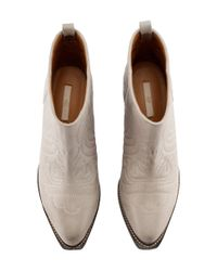H&M | Natural Leather Boots | Lyst