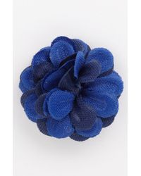 Hook + Albert | Blue Flower Lapel Pin Large | Lyst