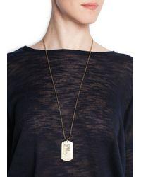 Mango - Metallic Id Tag Necklace - Lyst
