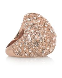Marc By Marc Jacobs | Pink Heart Pavé Crystal Ring | Lyst