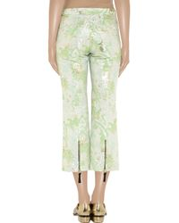 Marni - Green Jacquard Straightleg Cropped Pants - Lyst