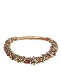 Alexander McQueen - Metallic Antique Gold Crystal Bee Choker - Lyst