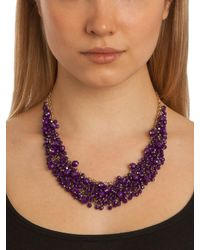 BaubleBar - Metallic Fuchsia Gem Cluster Necklace - Lyst
