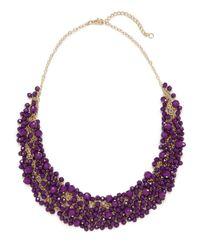 BaubleBar - Purple Violet Gem Cluster Necklace - Lyst