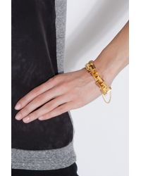 Eddie Borgo - Metallic Helix Square Link Bracelet - Lyst