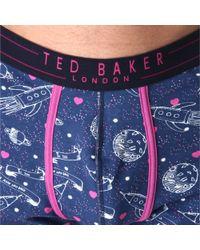 Ted Baker - Blue Boxer and Sock Set for Men - Lyst