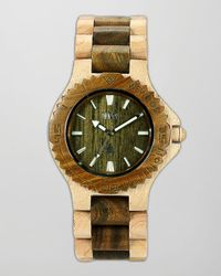 WeWood - Metallic Date Maple Guaiaco Wood Watch - Lyst