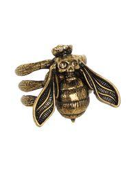 Alexander McQueen - Metallic Bee Ring - Lyst