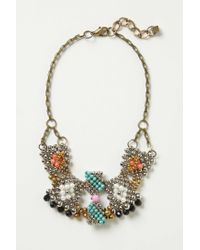 Anthropologie | Metallic Gilded Cascade Bib Necklace | Lyst