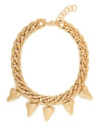 BaubleBar | Metallic Gold Shark Teeth Necklace | Lyst