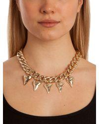 BaubleBar - Metallic Gold Shark Teeth Necklace - Lyst