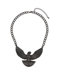 TOPSHOP | Gray Eagle Collar Necklace | Lyst