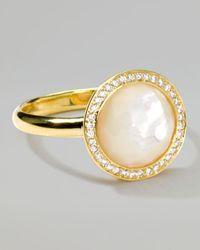 Ippolita - Metallic 18k Gold Rock Candy Mini Lollipop Diamond Mother-of-pearl Ring - Lyst