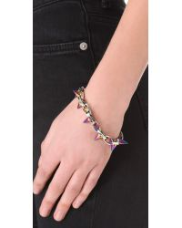 Joomi Lim - Purple Future Perfect Spike Bracelet - Rhodium/rainbow - Lyst