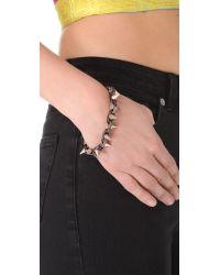 Joomi Lim - Black Metal Luxe Spike Bracelet - Lyst